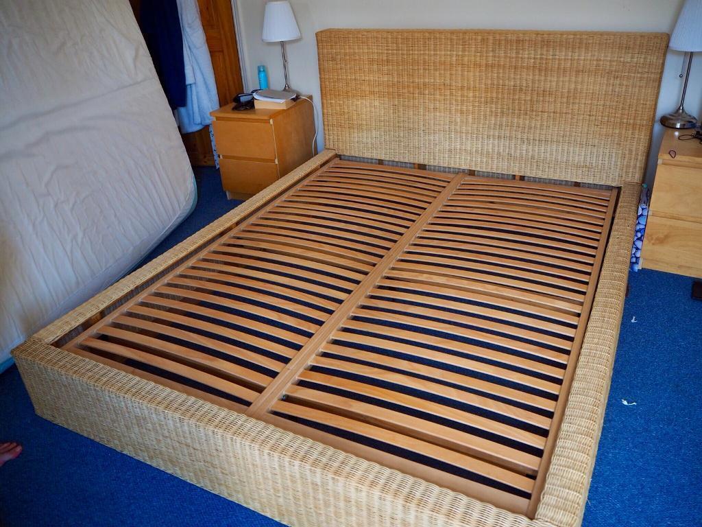 Habitat King Size Wicker Rattan Bed Frame