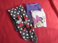 MINNIE MOUSE Girls T-shirts plus Tights Set of 3 5Y 110cm