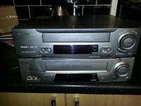 Two Sharp VHS video players recorders fully working