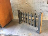 Vintage Stand Alone Cast Iron Fire Grate- CAN DELIVER