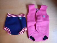 """Splash About - Baby Wrap, """"Warm in Water"""", 6 - 18 months, pink; incl. Happy Nappy"""