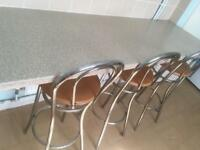 Free breakfast bar and stools
