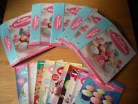 Cake decorating magazine, approx 80 with binders