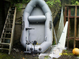 9ft avon yacht tender and option of electric outboard