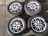 Alloy Wheels & Tyres x 4 Ford Focus Saloon (2002)