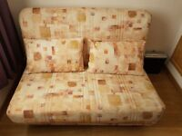 2 Seater sofa bed - Excellent condition comes complete with 2 matching cushions