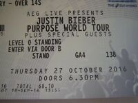 x1 Justin Bieber Standing Ticket 27th October Glasgow SSE Hydro