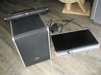 JVC Sophisti DD-8 DVD Player/Amplifier with Powered Subwoofer and Centre Speaker