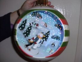 LARGE HANGING FIBRE OPTIC CHRISTMAS SCENE (Brand New & Boxed)