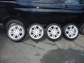 VAUXHALL ALLOYS 17 INCH WITH CONTINENTAL TYRES
