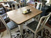 Vintage Farmhouse Queen Anne Dining Table