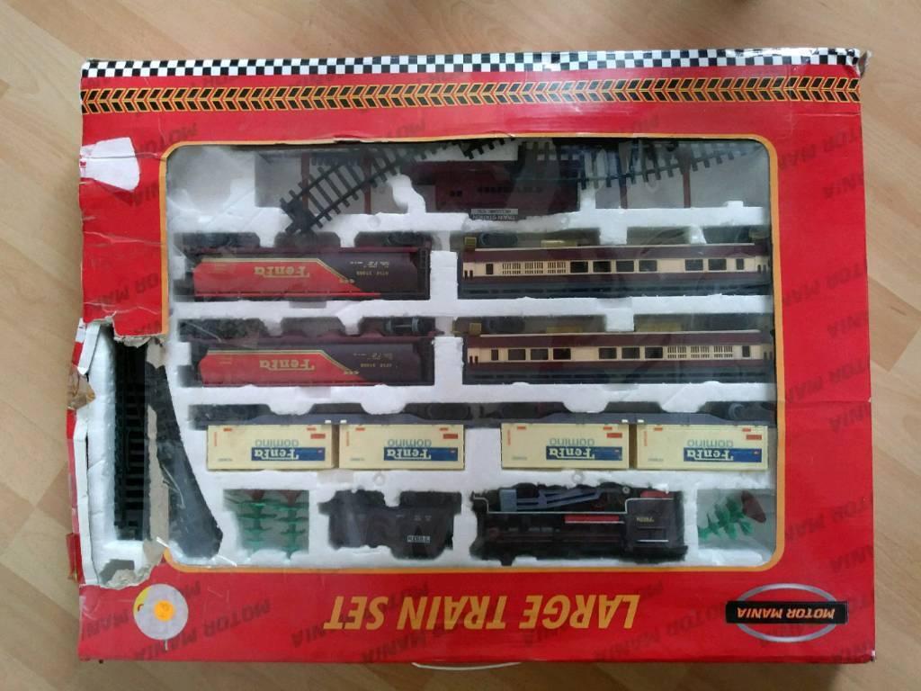Large Train Set Boxed Motor Mania