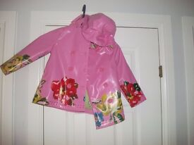 Pink rain jacket size 2 - 3yrs old collect or deliver Stonehaven