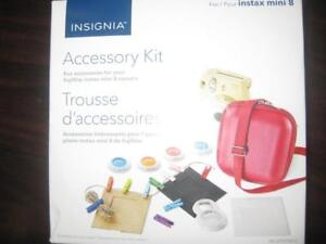 Insignia Fujifilm Instax Mini 8 / 9 Accessory Kit - Camera Case with Filter and Photo Clip. Raspberry. Picture. NEW