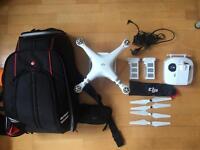 DJI Phantom 3 Advanced (With Extra Battery + Bag)