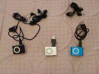 3 NEW MINI MP3 PLAYERS