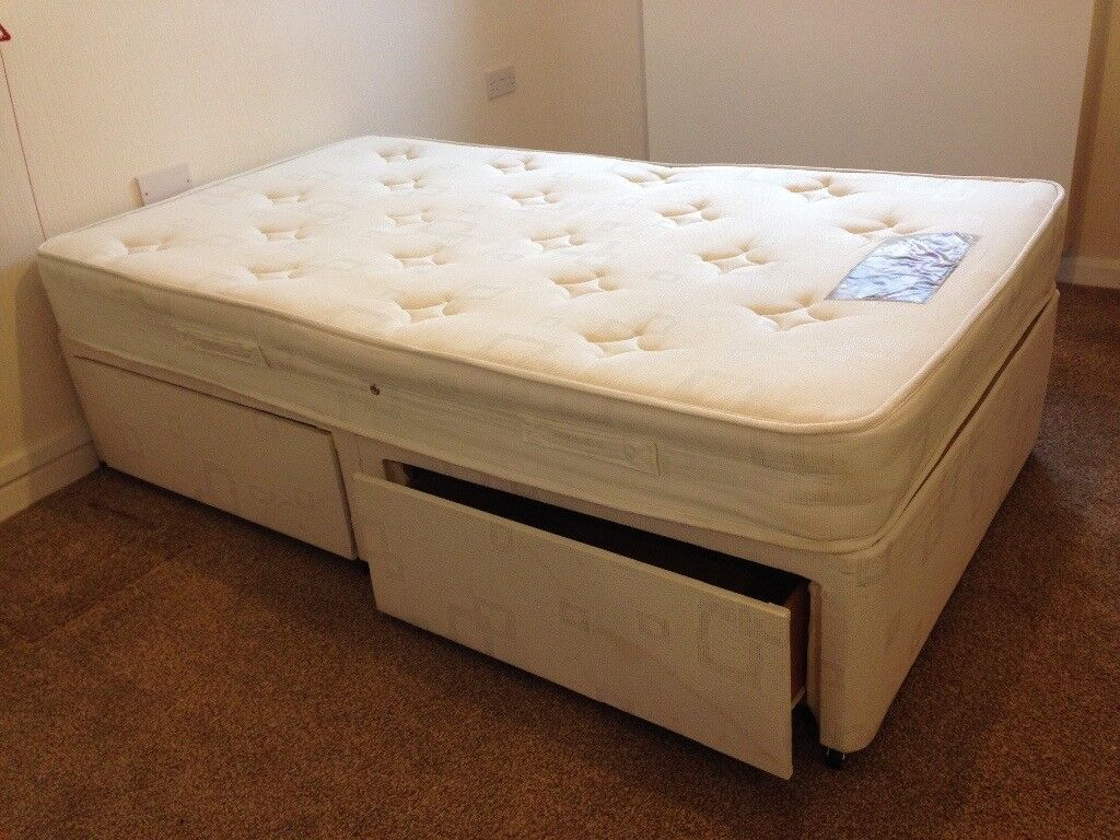 3/4 Divan with 2 drawers