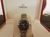 ** Ladies omega seamaster ** 300m box and cards ** may px cartier tag rolex