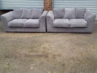 Stunning Brand New grey cord sofa suite.pair of 2 seater sofas.can deliver