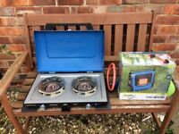 Gas camping stove and heater