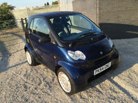 2004 54 plate smart car FULLY automatic 0.7cc - 1 years MOT - LOW mileage - Only £30 a year to Tax