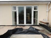 White UPVC Patio/ French Doors