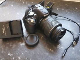 Nikon D3100 Camera with 18-55mm f/3.5-5.6 Auto Focus-S Nikkor Zoom Lens