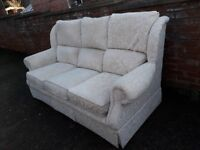 Sofa. Settee. 3 seater high back , clean and comfy. Can deliver.