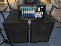wharfedale pro pmx 700 mixer speakers and mike
