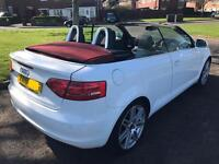 2010 (10) A3 Cabriolet 1.6 TDI Sport Convertible - White with Red Roof