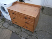 PINE CHANGING UNIT PINE CHEST OF DRAWERS IN YEOVIL