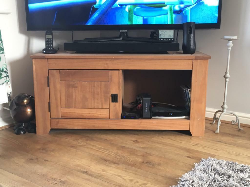 Solid wood TV unit