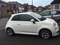 Fiat 500 S white , 11982 miles with parking sensors, 1 lady owner