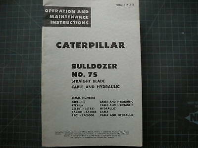 Caterpillar 7s Bulldozer Operationmaintenance Manual D