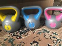 Set of 3 Kettlebells