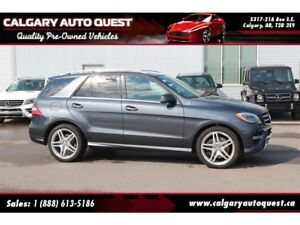 2014 Mercedes-Benz M-Class ML550 4MATIC AMG PKG/NAVI/B.CAM/LEATH
