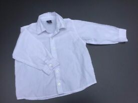 White Boy's Shirt from Next, for age 2 yrs/ 92cm