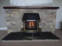 Original Craftsman built Westmorland Stone Fireplace