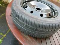 Steel wheel with nearly new tyre