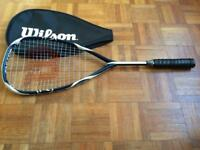 Squash racquet - with cover. Wilson