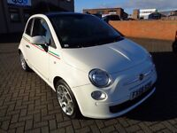 Fiat 500 Sport White Low Mileage Warranty Included