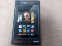 Kindle fire HDX boxed and in excellent condition