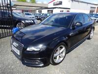 Audi A4 2.0 TDI 143 S LINE 4dr MULTITRONIC + SATNAV + LEATHER + PHONE + AUDI SERVICE... (black) 2009