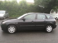 MAZDA 3 DIESEL 5DR 2007 CAR IN BLACK