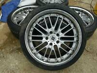 "18"" DEEPDISH CHROME 5X112 MERCEDES VW AUDI SEAT SKODA ALLOYS AND TYRES"