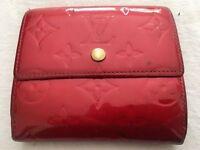 Genuine LV Louis Vuitton Vernis Rouge Porte Monnaie wallet, leather red, rrp £450