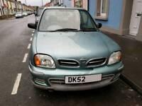 Nissan Micra 1L 2002/52 **NEW MOT**