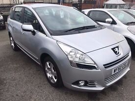 Great Value 2010 60 Peugeot 5008 1.6 HDI DIESEL SPORT Auto 7 Seater MPV Only 46000 Miles HPI Clear