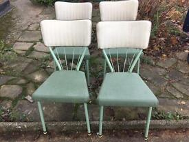 "VINTAGE CHAIRS FREE DELIVERY RETRO ""STEELUX"""