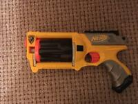 3 small Nerf guns one is water pistol